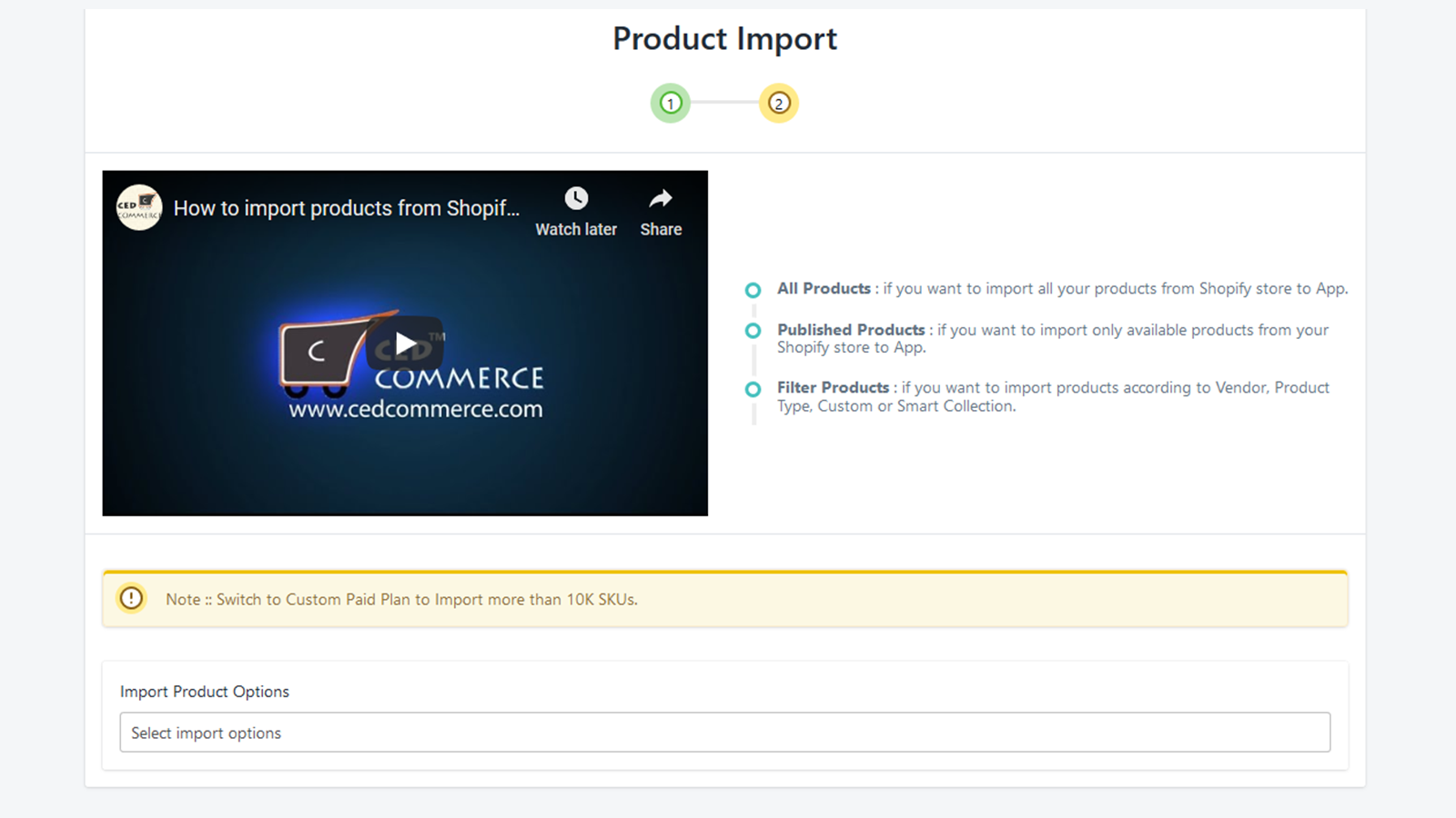 product import, Shopify Plus