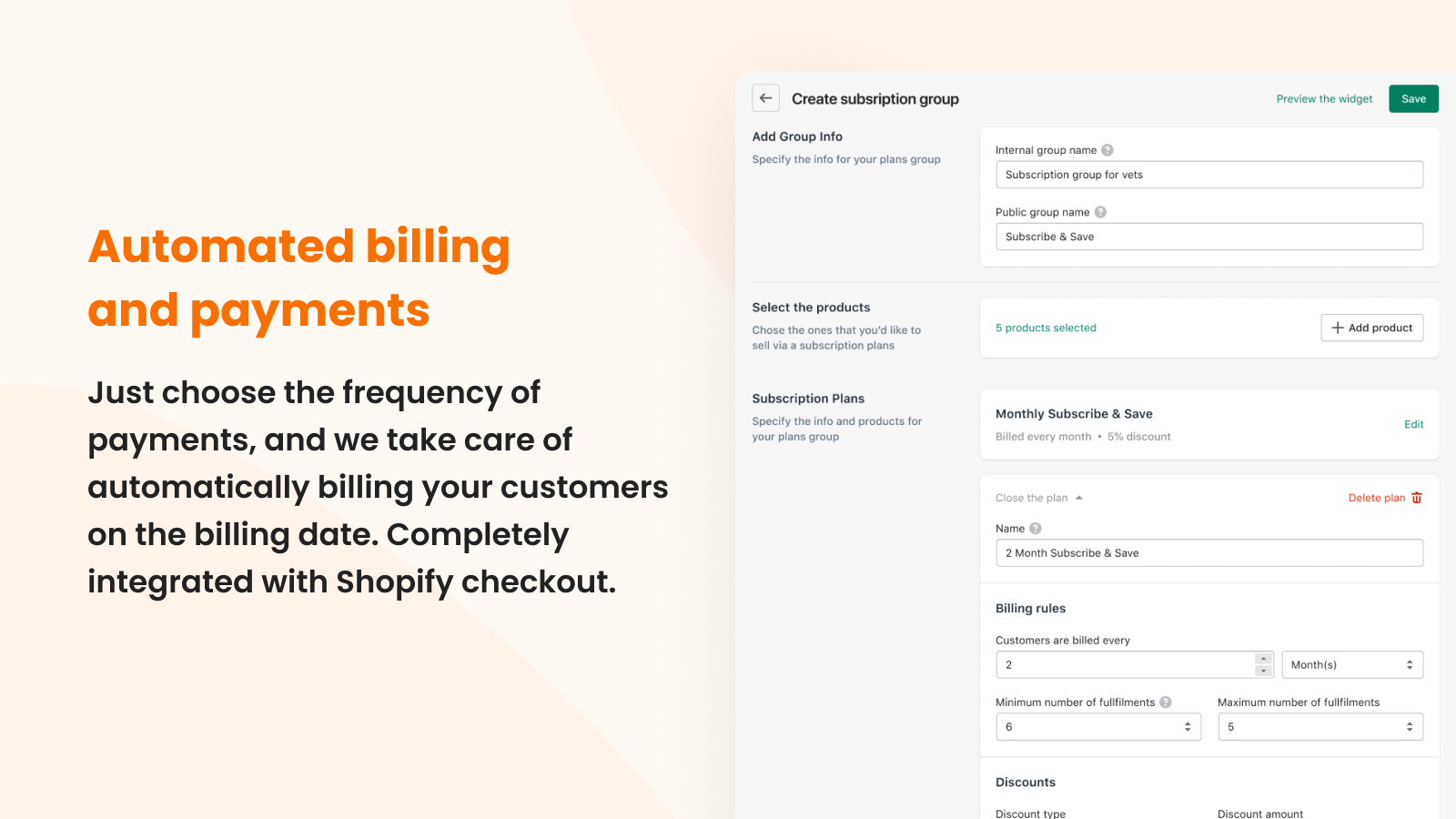 Automated payments and subscriptions