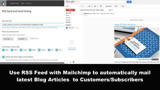 Use RSS Feed to automatically mail blog articles to subscribers
