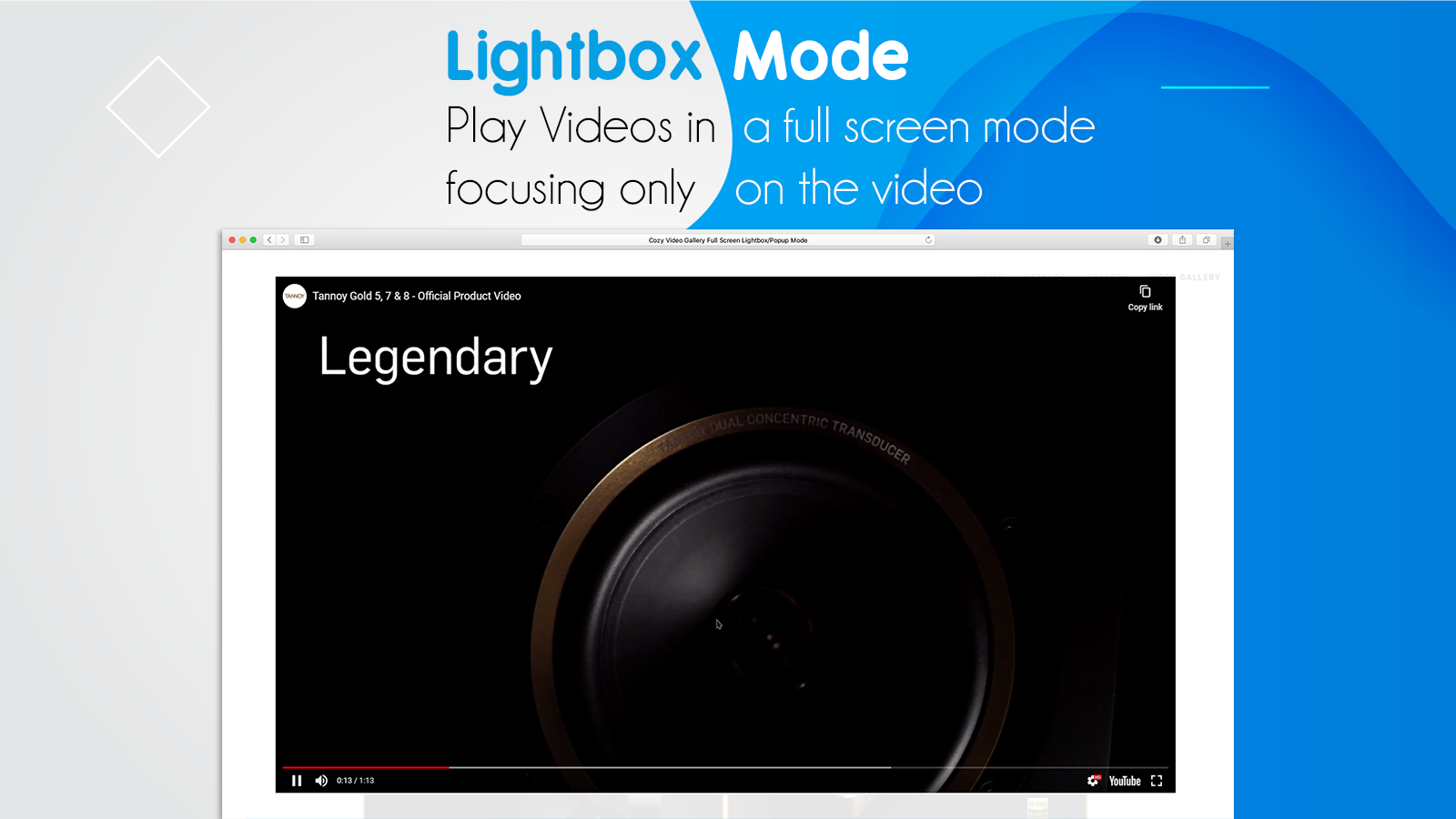 Shopify Video Gallery Display in Popup or Light-box. FullScreen
