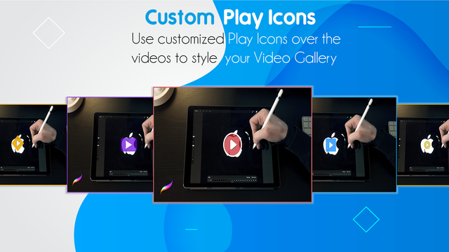 Customization Video Play Icons Gallery like your shopify design