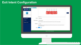 Zillafy exit intent configuration coupon