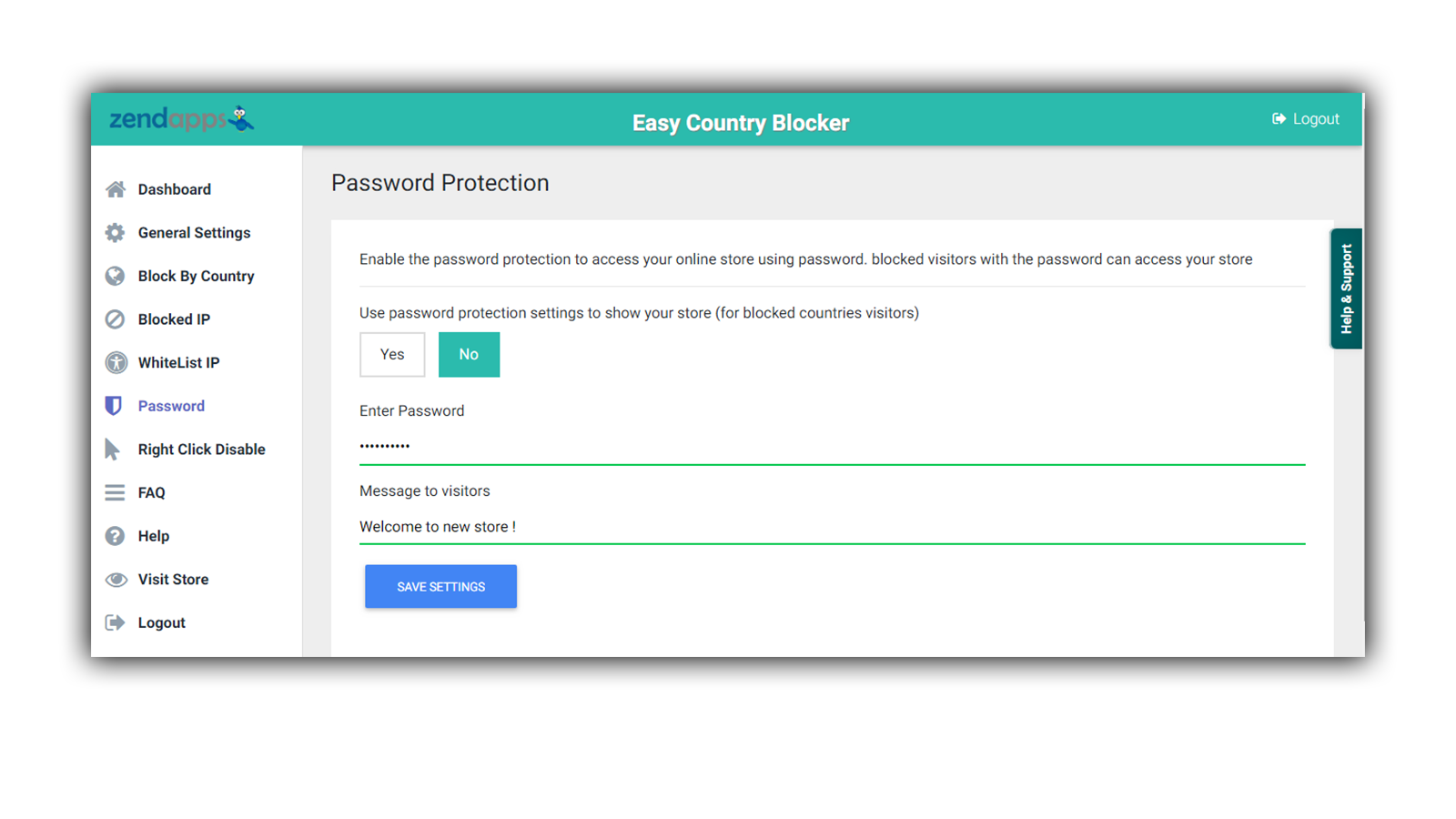 password protected page