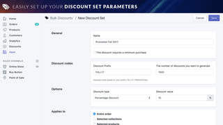 Customize your discount sets