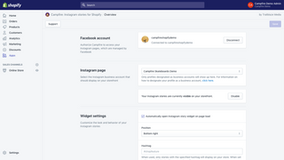 Campfire Shopify App merchant dashboard completed setup