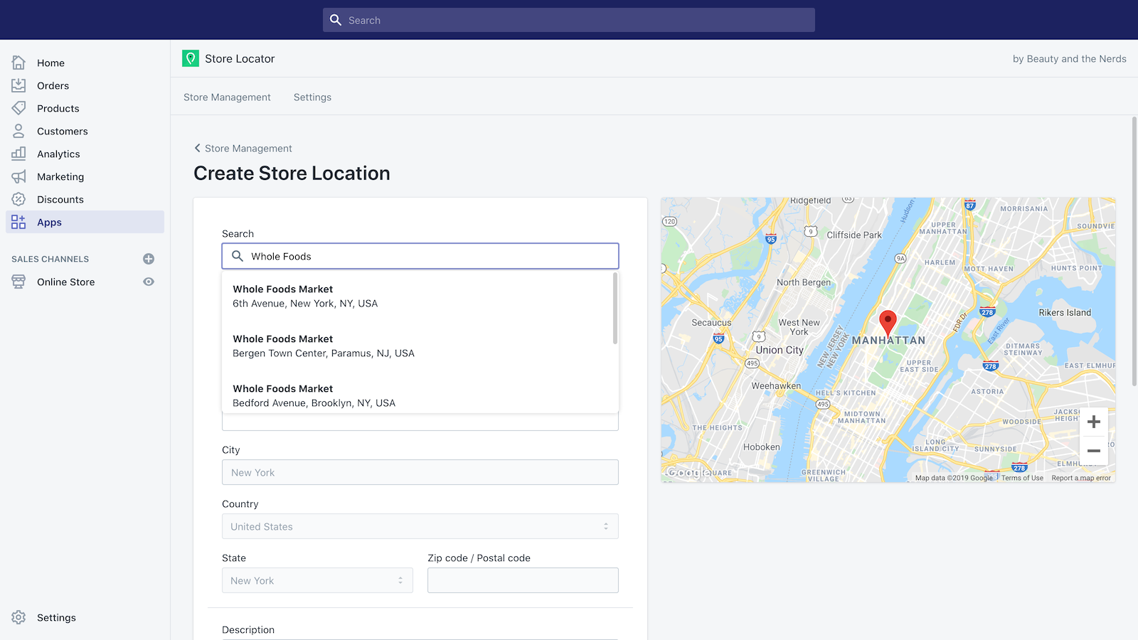Add & search existing stores and pull all data automatically