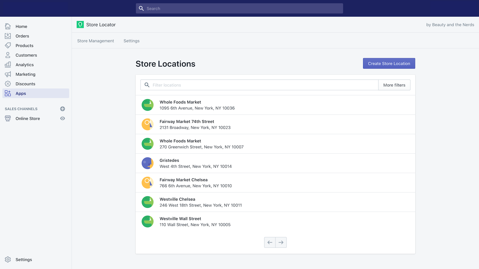 A clear directory of your stores
