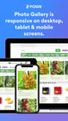 Photo Galleries are responsive on Desktop, Tablet & Mobile