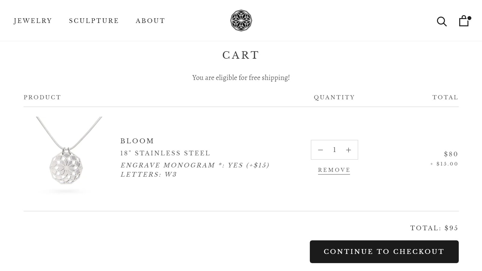 Cart Page | Custom Product Options - W3Trends