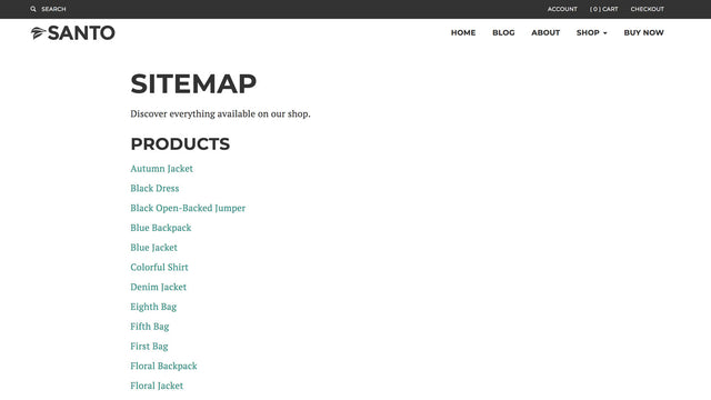 sitemap of all products help customers search products sitemap