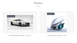 Coming Soon collection page view.