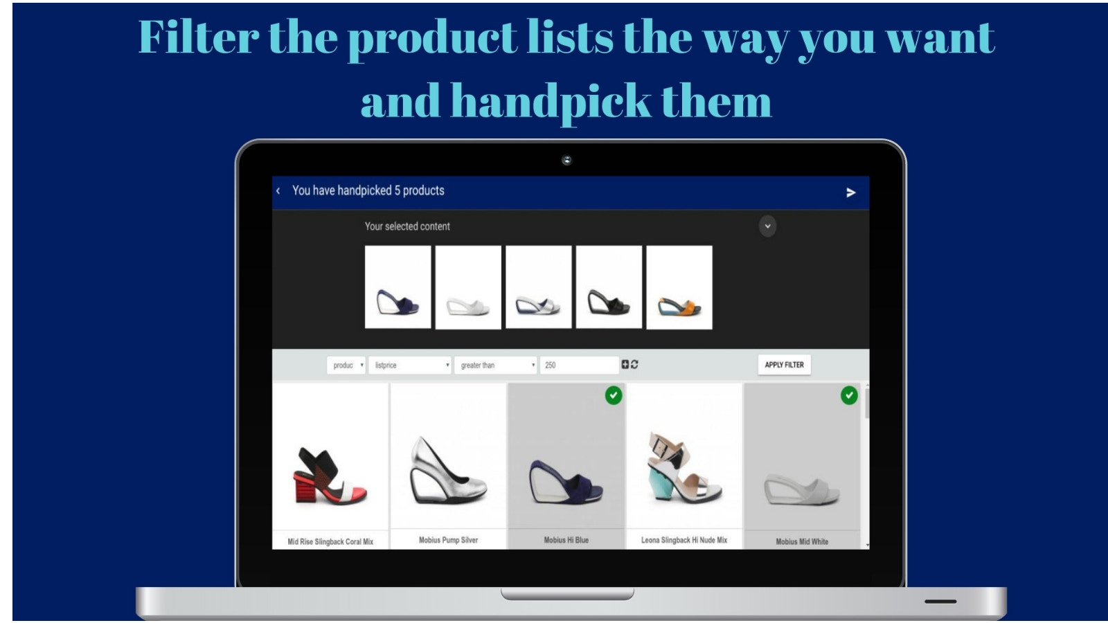 Quick products showcase on all channels