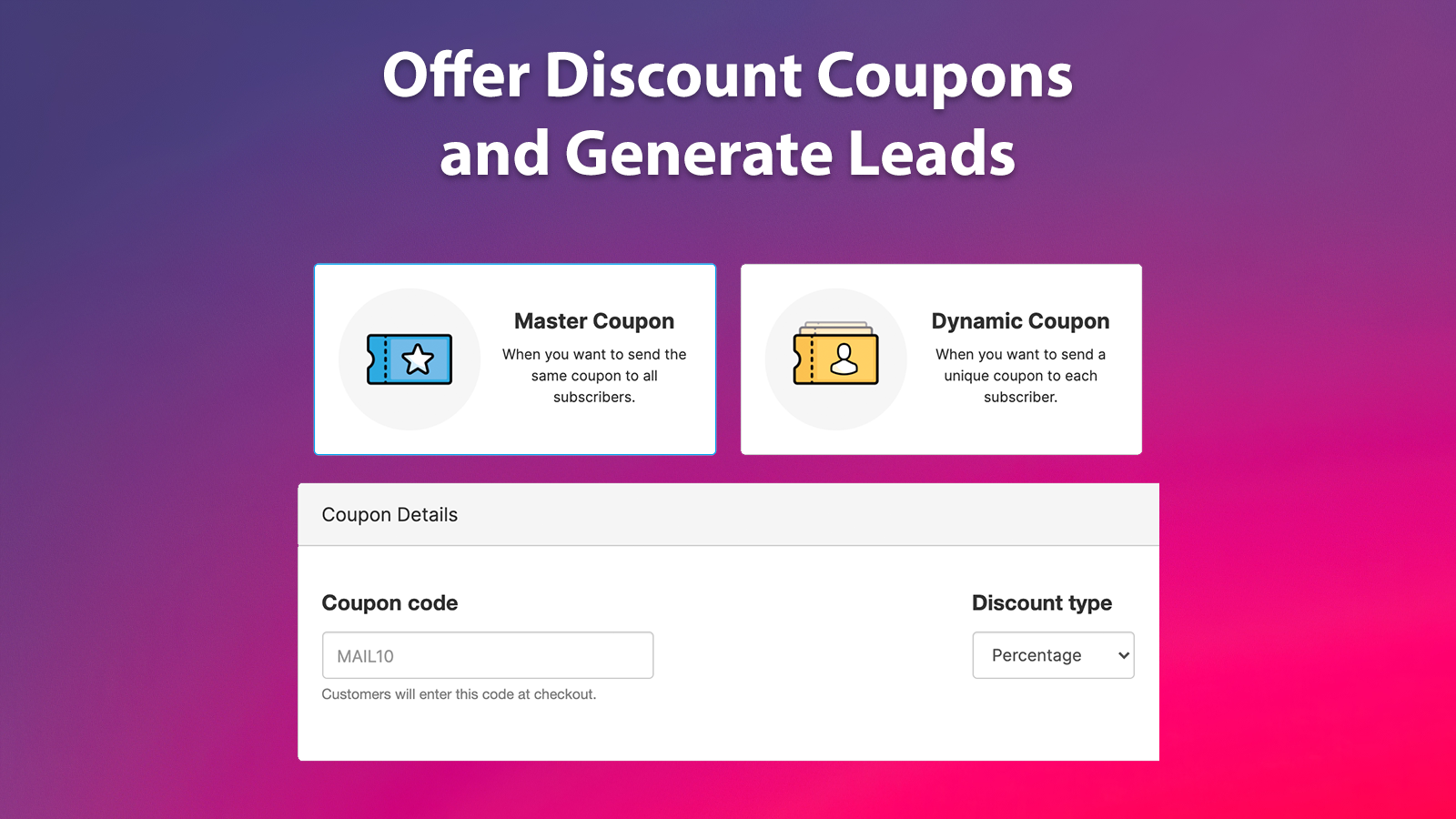 Discounts and Coupons