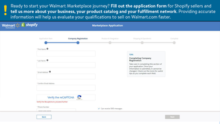 Walmart Marketplace application