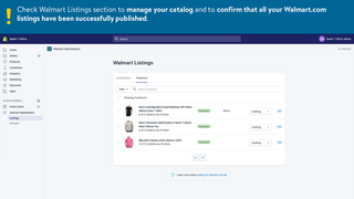 Walmart Marketplace catalog management