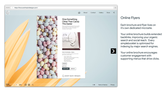 Brochure with shopify product on page