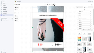 Easily fill template with content about your product