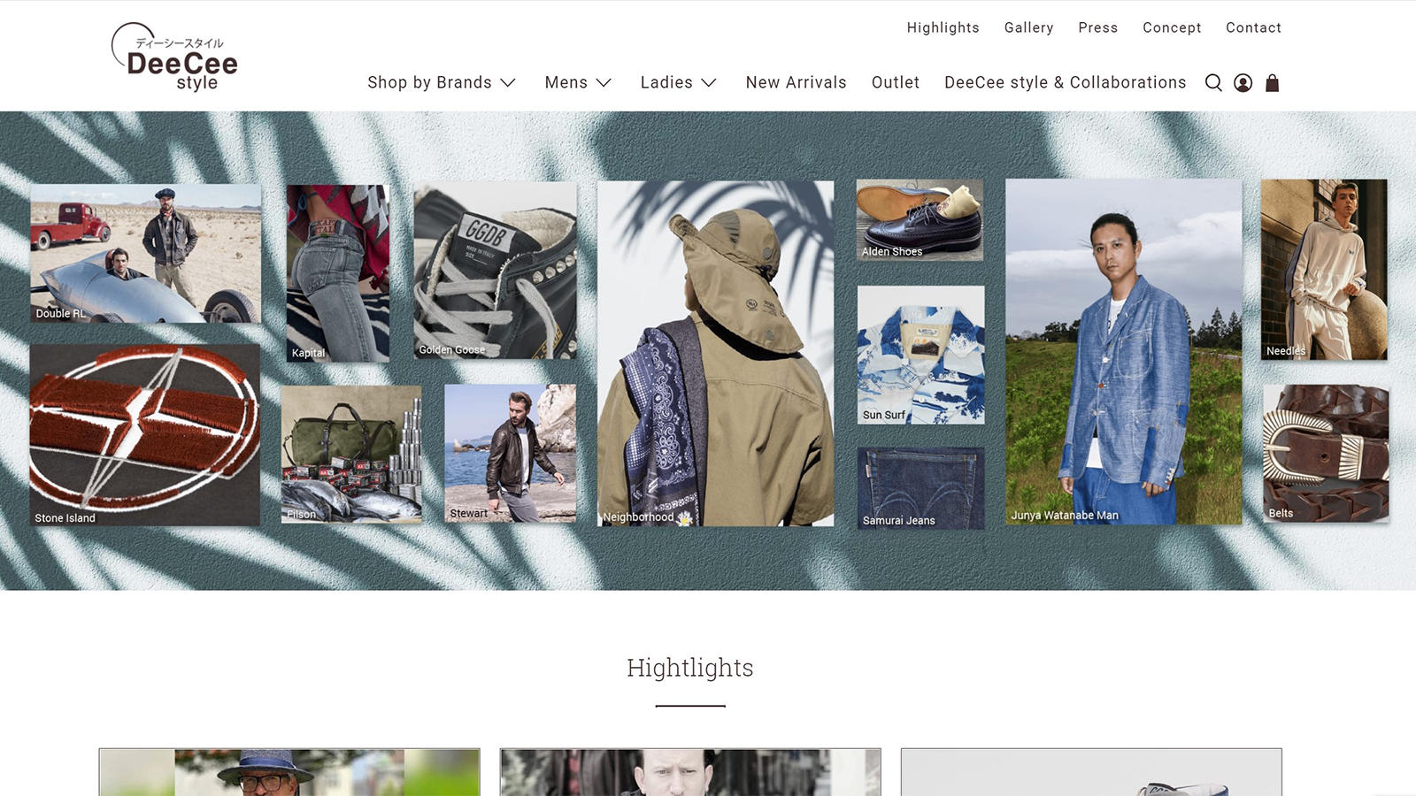 Example Shop deeceestyle.ch