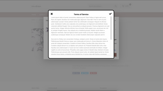 terms of service modal