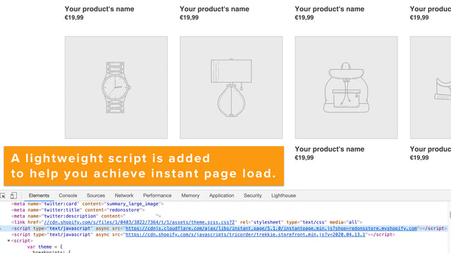 One lightweight and SEO-friendly script to improve page load