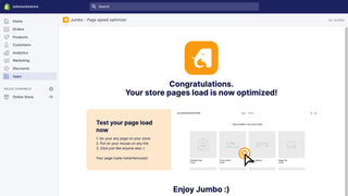 Improve page speed with Jumbo instant page load app