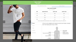 kiwi sizing, size chart, fit finder - Modal Size Charts
