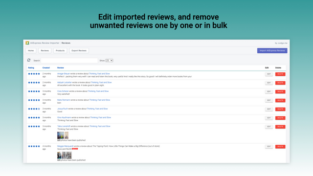 Easily make edits and remove your unwanted reviews