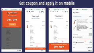 Got coupon and apply it on mobile
