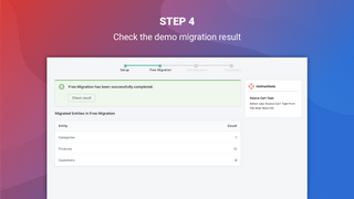 litextension magento to shopify migration app result