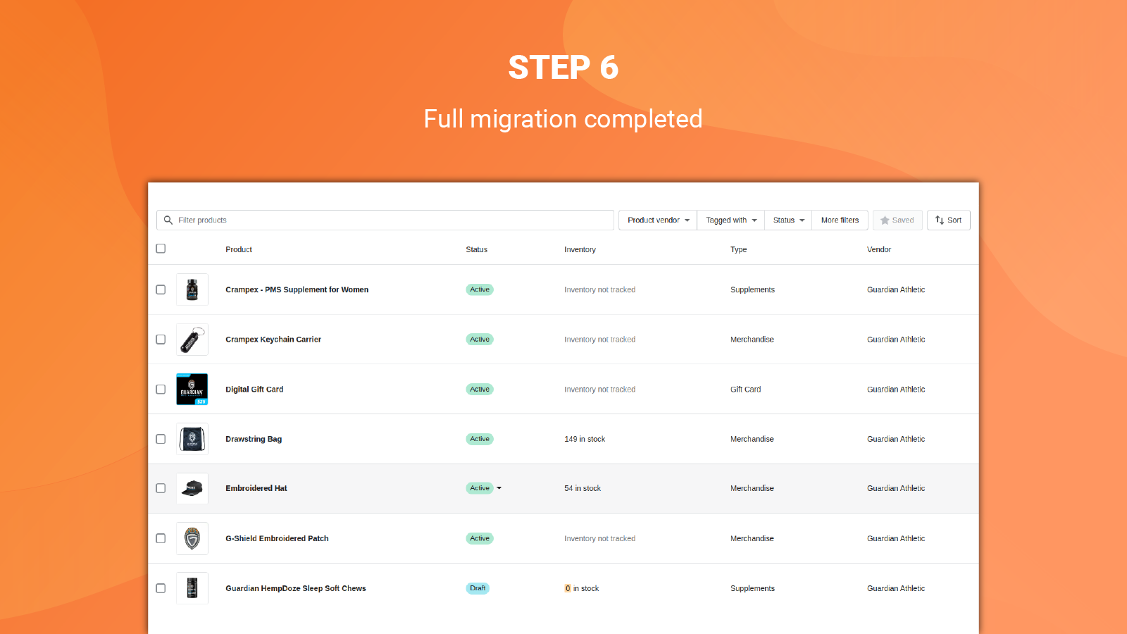 litextension magento to shopify app full migration completed