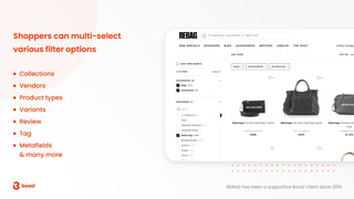 multi-select filter app shopify boost commerce