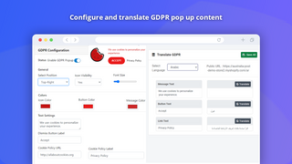 Translate Shopify Store GDPR Translation