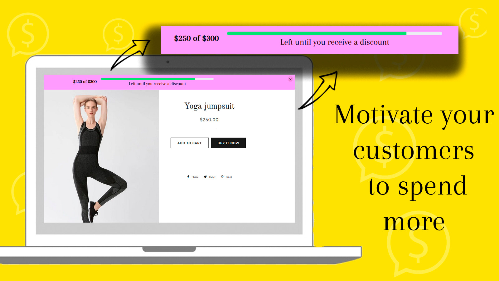 Motivate to spend more on your web site