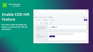 COD Verification by IVR call