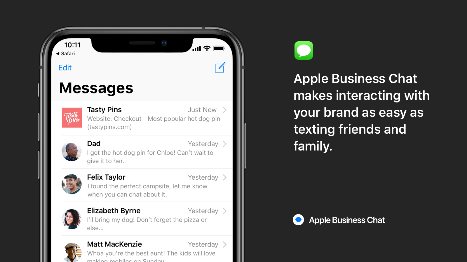 Shopify Live Chat by Apple Business Chat