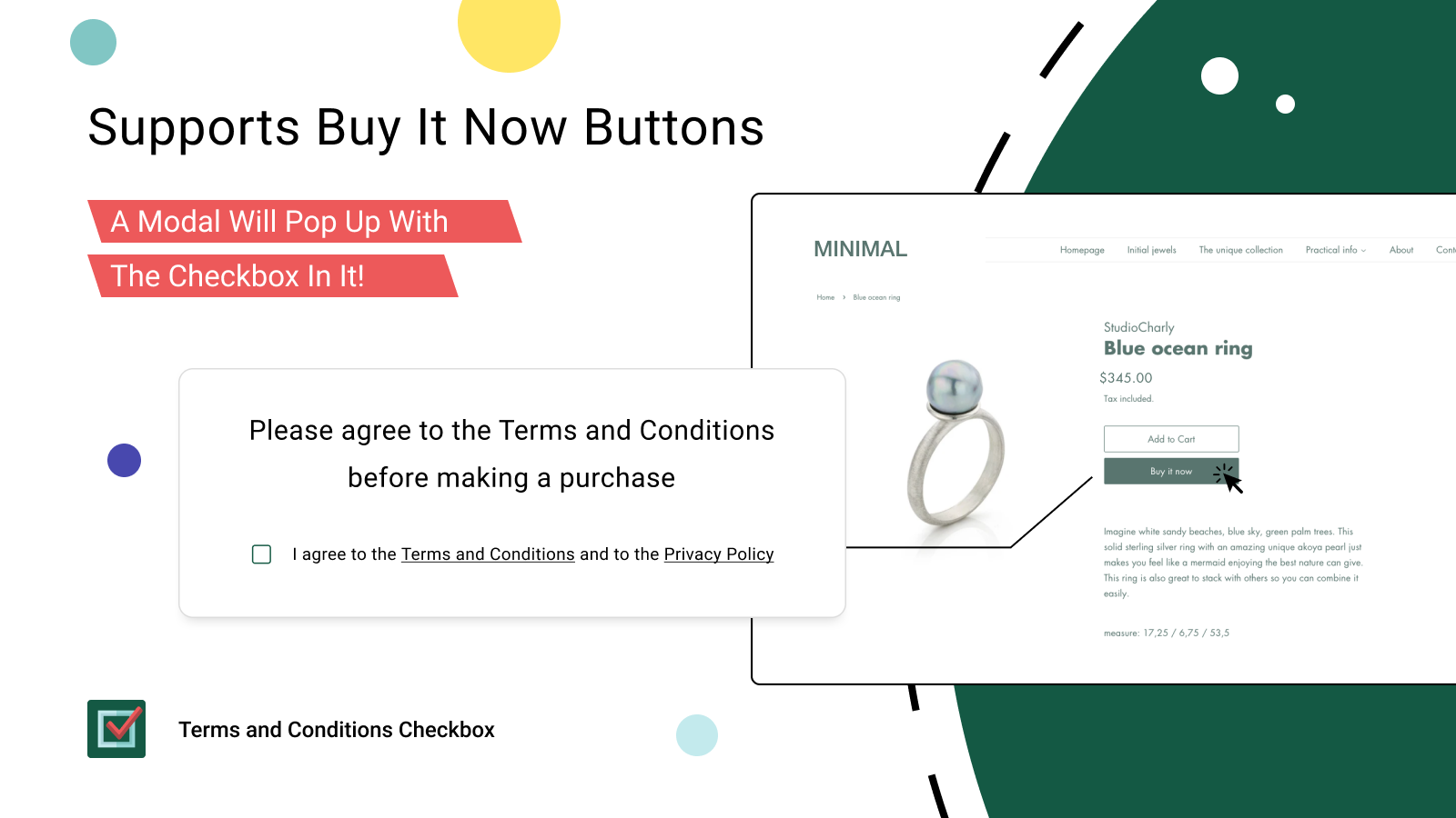 The app supports Buy It Now buttons