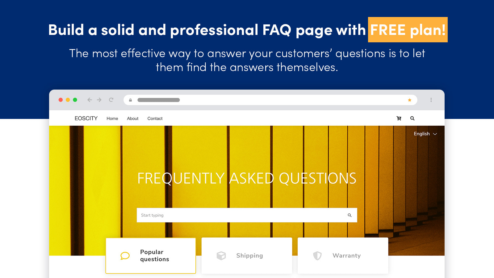 Help center page Free plan. Article ratings FAQ