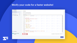 You can Minify your code for a faster website !