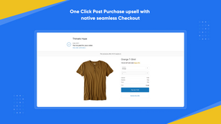 Post Purchase Upsell