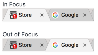 notifications on icon tabs