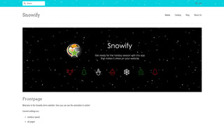 Screenshot of Snowify example homepage