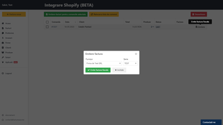 Select invoice options