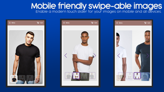 Mobile friendly swipe-able images