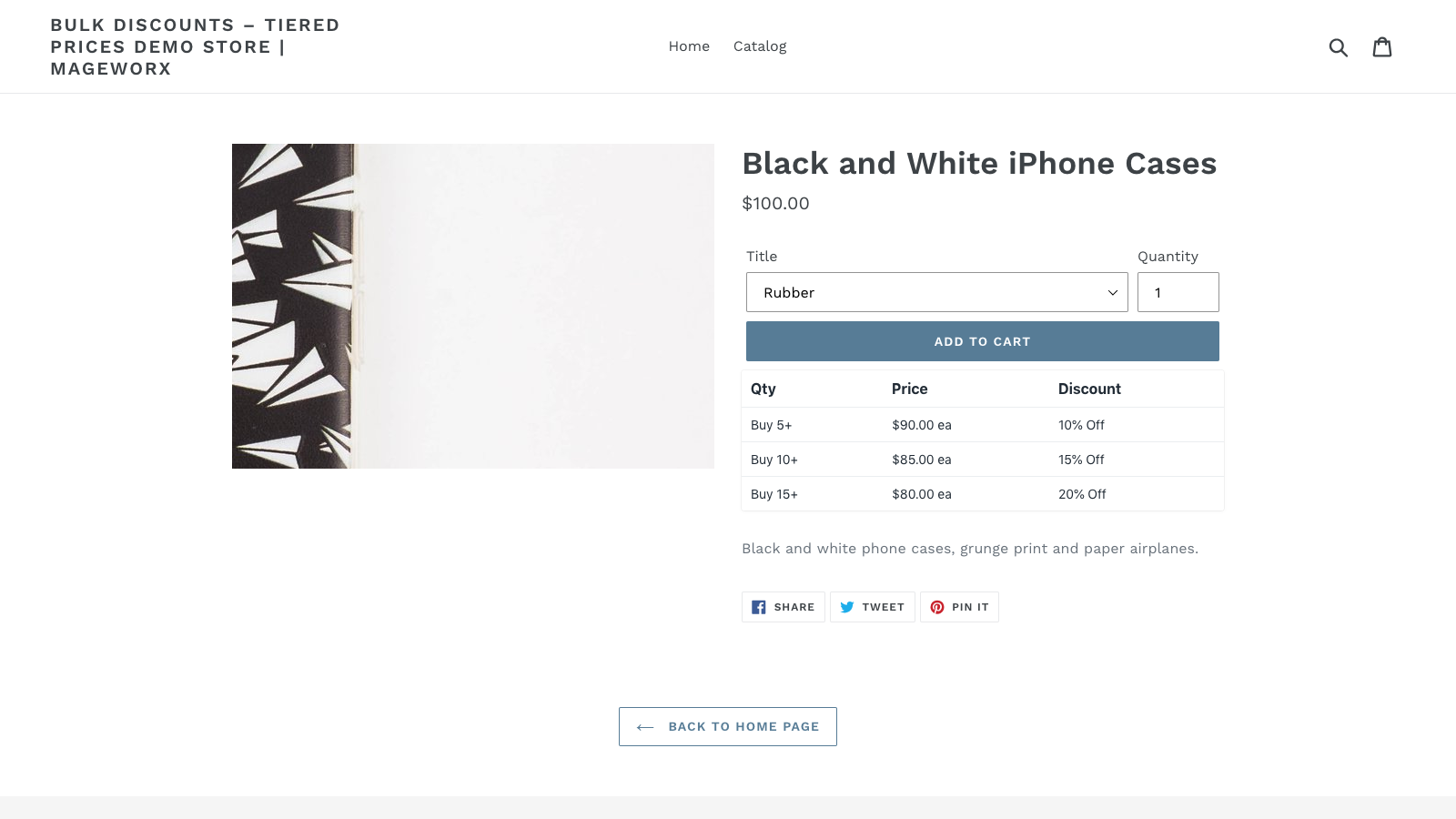 Bulk discounts ― Tier prices table on the front-end
