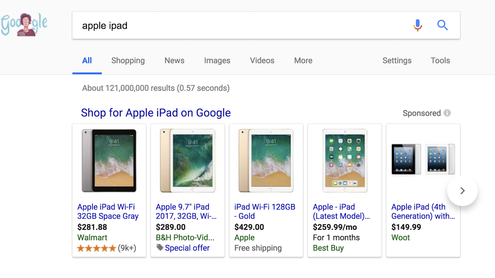 Shopping ads on Google, Bing and Facebook