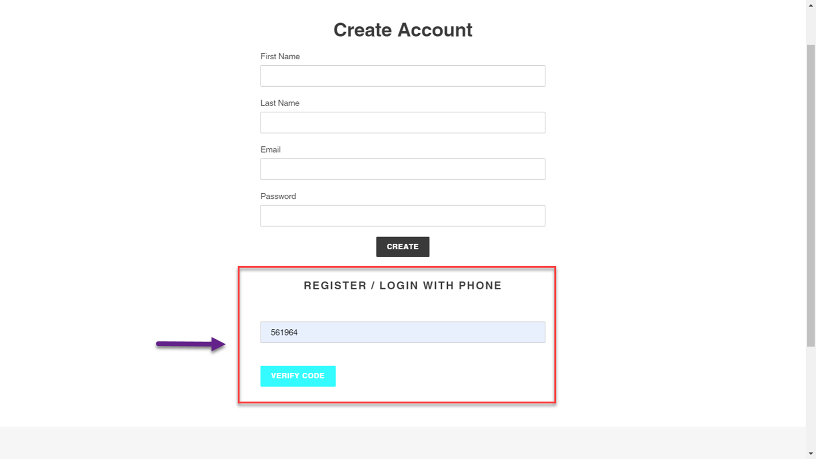Customers will Provide the Passcode to Login