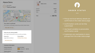 Confirm pickup and delivery details in the order summary page