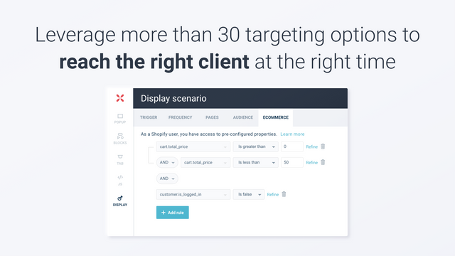 Leverage more than 30 targeting options