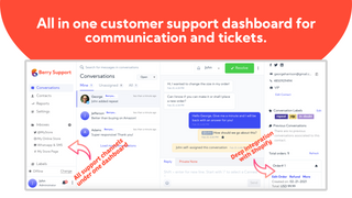 All in one customer support dashboard for communication and tick