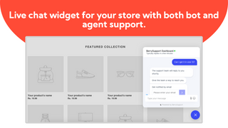 Live chat widget for your store with both bot and agent